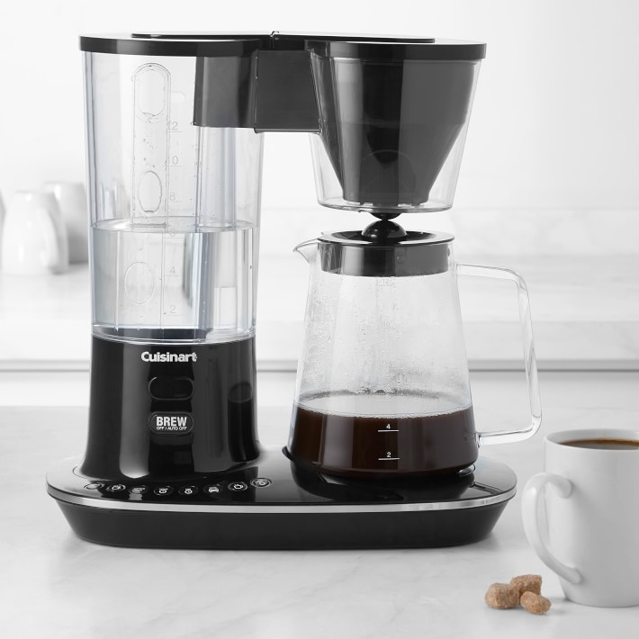 12 Cups Glass Carafe with Keep Warming Pad Mid-Brew Programmable Coffee Maker