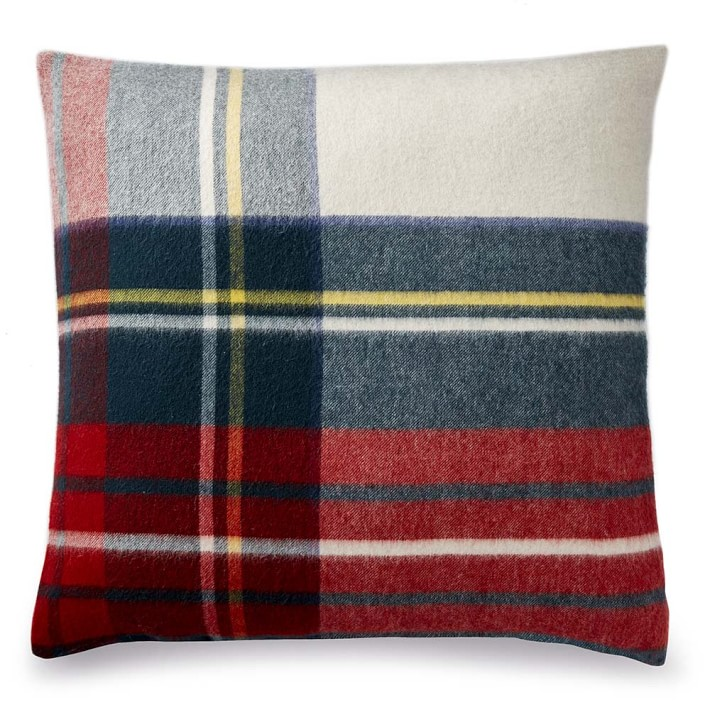 Plaid Lambswool Pillow Cover